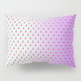Red Blue Dots with White Purple Ombre Pillow Sham