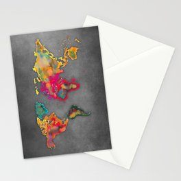 Map of the world 2027 Stationery Cards
