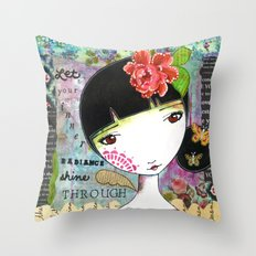 Let Your Inner Radiance Shine Through Throw Pillow