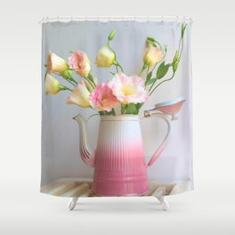 Coffee, Tea or Flowers Shower Curtain