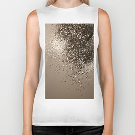 Sparkling Sepia Lady Glitter #1 #shiny #decor #art #society6 Biker Tank