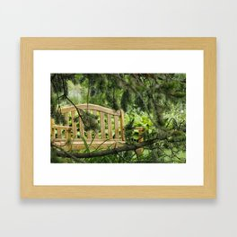 Benches - Central Experimental Farm, Ottawa Framed Art Print