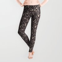 bones Leggings featuring Buried Bones by Alyssa Scott