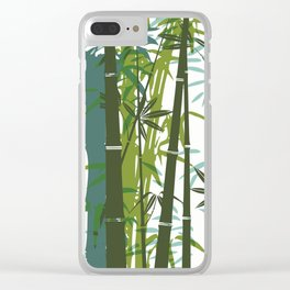 Bamboo wallpaper Clear iPhone Case