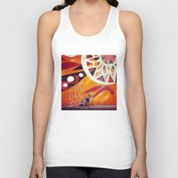 artsy Tank Tops featuring Artsy Dog by Coconuts & Shrimps