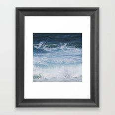 Ocean waves from the depths of the stars Framed Art Print