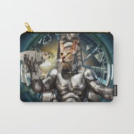 Robot Space Cat Carry-All Pouch