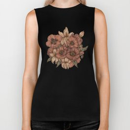 Poppies and Lilies Biker Tank
