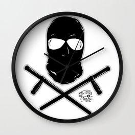 Ski Mask and Night Sticks Wall Clock