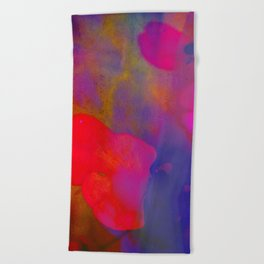 She Always Colored Outside the Lines Beach Towel