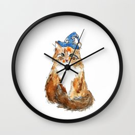 Maine Coon Cat Wizard Wall Clock