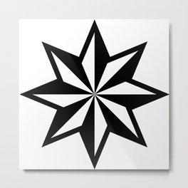 Star geometric retro shape vector graphic illustration design Metal Print