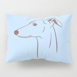 Italian Greyhound (Blue and Taupe) Pillow Sham