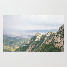 mountains of montserrat Rug