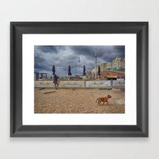 Fun On Brighton Beach Framed Art Print