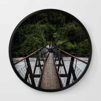 bridge Wall Clocks featuring Bridge by Michelle McConnell