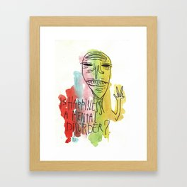 is happiness a mental disorder? Framed Art Print