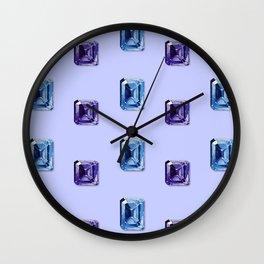 Step-Cut Pattern Wall Clock