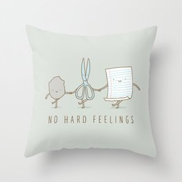 No Hard Feelings Throw Pillow