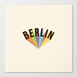 Letters : Berlin Canvas Print