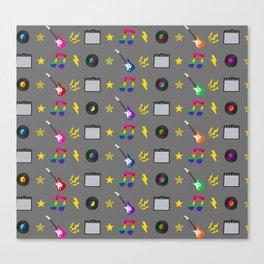 Punk Rock Rainbows Canvas Print