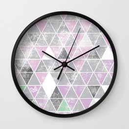 Plumbobs, Triforces or Cubes? — Pink Wall Clock
