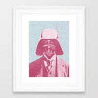 darth vader Framed Art Prints featuring Darth Vader by NJ-Illustrations