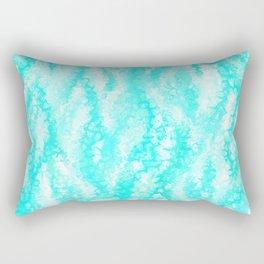 Light Blue Ocean Waves Rectangular Pillow