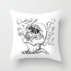 Our Hero, Former Smoker Throw Pillow