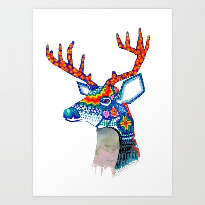 Venado huichol art print chacalall society jpg 700x700 Venado huichol a22dba6723567