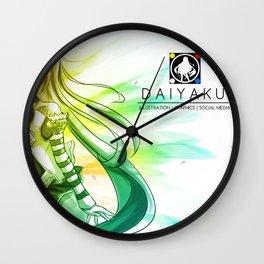 Daiya Aoi - Gradience Wall Clock