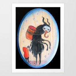 The Not So Silent Night (Krampus) Art Print