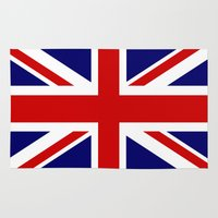 british flag Area & Throw Rugs featuring British Union Flag by PICSL8