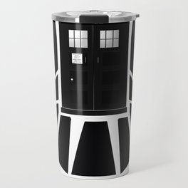 Agents of TARDIS black and white Agents of Shield, Doctor Who mash up Travel Mug