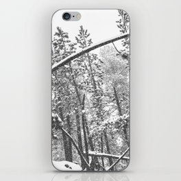 Forest Snowfall // Winter Tree Black and White Landscape Photography Backwoods Woodlands Woods iPhone Skin