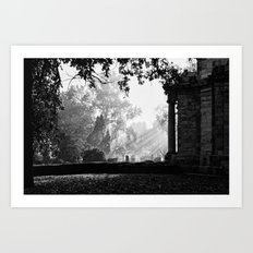 Morning at greenlawn Art Print