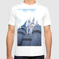 Disney Castle In Color MEDIUM Mens Fitted Tee White