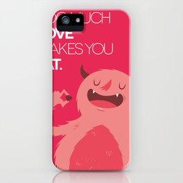 FATTY valentine's day iPhone Case