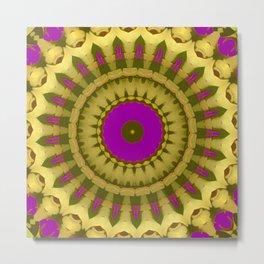 New Color Pyramidal Mandala 12 Metal Print