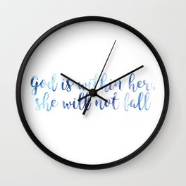 Psalm 46:5 - God is within her Wall Clock