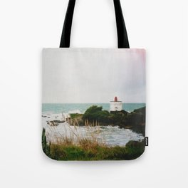 Film photo of the lighthouse at Bluff, NZ Tote Bag