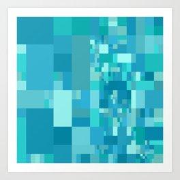 light blue mosaic Art Print