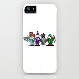 The Four Funny Bears With Costume iPhone Case