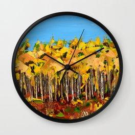 Wisconsin woods Wall Clock