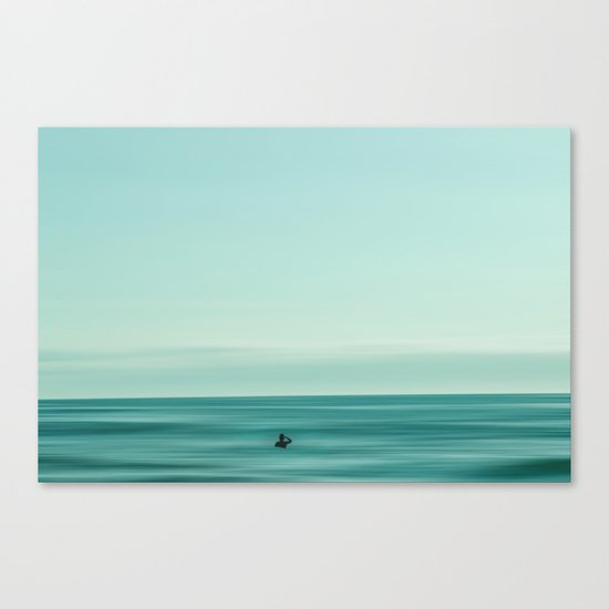 Man in the sea Canvas Print