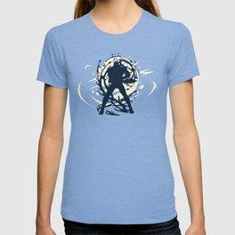 Black Japanese Ninja Warrior Fantasy Silhouette T-shirt