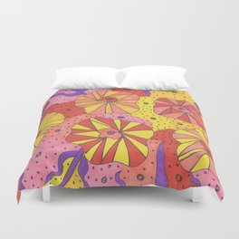 Gallactic Garden Colorful Art Duvet Cover