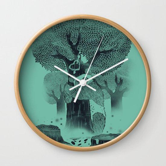 The Tree Hugger Wall Clock