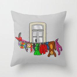 Estendal de Carnaval Throw Pillow
