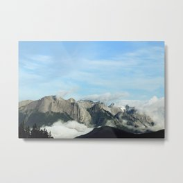 Mountainous Terrain Metal Print